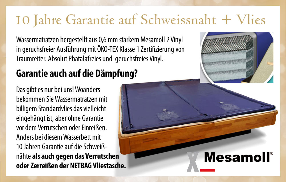 silverline wasserbett komplett mit schubladen bettrahmen. Black Bedroom Furniture Sets. Home Design Ideas