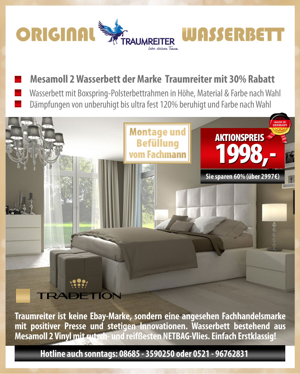 boxspringbett wasserbett hotelbett inkl aufbauservice. Black Bedroom Furniture Sets. Home Design Ideas